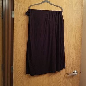 Solid Black 3xl Maxi Skirt